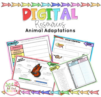 Distance Learning Animal Adaptations for Google Classroom