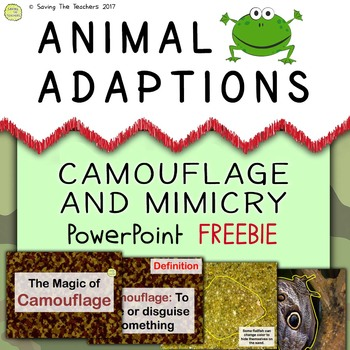 Free biology powerpoint presentations resources lesson plans animal adaptions camouflage and mimicry powerpoint freebie fandeluxe Gallery