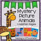 Addition Mystery Picture Animals