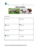 Animal Addition: 3 digit addition with regrouping