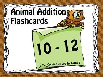 Addition Flashcards (10-12)