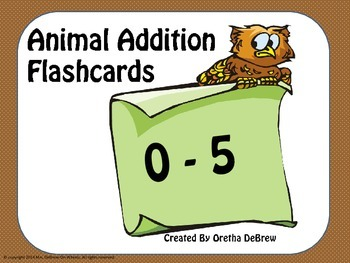 Addition Flashcards (0-5)