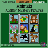 Animal  Addition Mystery Pictures
