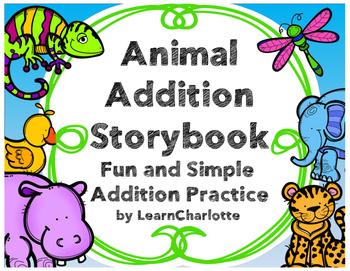 Addition Word Problem Practice {Animal Addition Storybook}