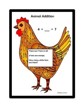 Animal Addition Word Problems 1-10