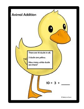 Animal Addition Word Problems 1-10