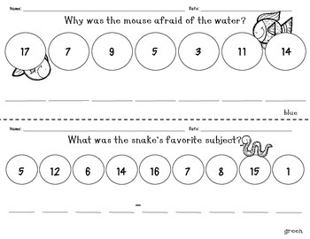 Animal Addition and Subtraction Mystery Riddles