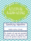 Animal Adjective Activity Cards