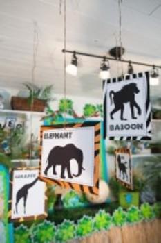Classroom Decor Animal Adventure Animal Silhouette Posters