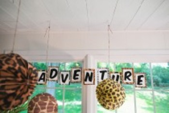 Classroom Decor Animal Adventure Banner Letters
