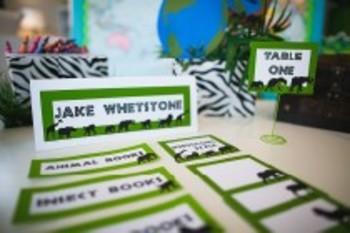 Classroom Decor Animal Adventure Book Basket Labels Editable