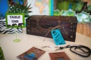 Classroom Decor Animal Adventure Editable Luggage Tags