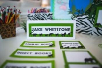 Classroom Decor Animal Adventure Editable Nameplates