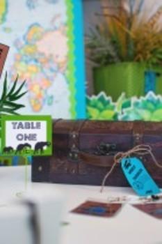 Classroom Decor Animal Adventure Multipurpose Labels Editable