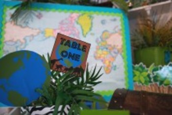 Classroom Decor Animal Adventure Table Signs Editable