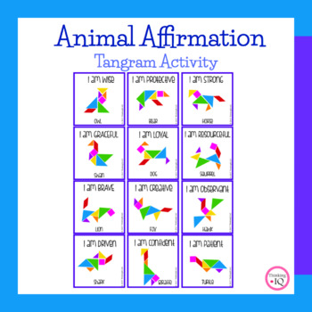 Animal Affirmation Tangram Counseling Activity