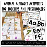 Animal Alphabet Activities for Toddlers and Preschoolers
