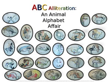 Animal Alphabet Alliteration - 26 original creations to in