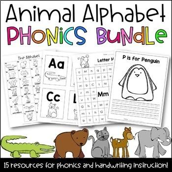 Animal Alphabet Phonics BUNDLE