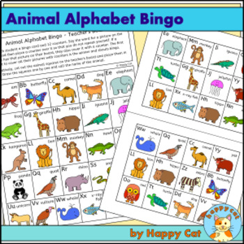 Animal Alphabet Bingo