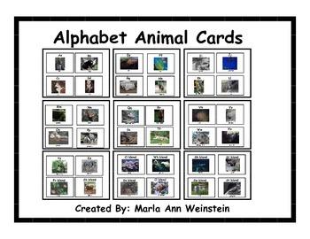 Alphabet Animal Cards