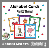 Animal Alphabet Cards - Black & White and Color