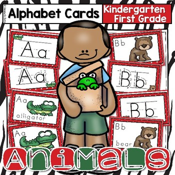 Animal Alphabet Cards and Coloring Book