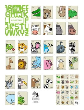 Animal Alphabet Cards and Poster Combo
