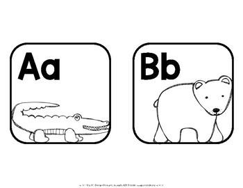 Alphabet Cards—Line and Word Wall Headers {Animal Alphabet}