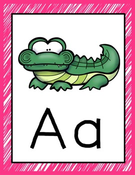 Animal Alphabet Chart and Posters (Brights)