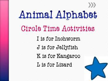 Animal Alphabet Circle Time Games & Activities I - L
