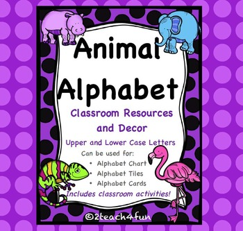 Animal Alphabet Classroom Resources and Decor