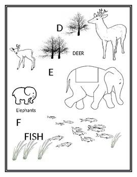 Animal Alphabet Coloring Book