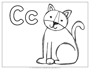 Alphabet Coloring Pages {Animal Alphabet}