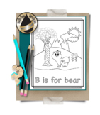 Animal Alphabet Coloring Pages:  B is for Bear