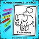 Animal Alphabet Coloring Pages: E is for Elephant FREEBIE