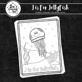 Animal Alphabet Coloring Pages: J is for Jellyfish