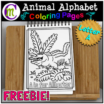 Animal Alphabet Coloring Pages | May 2017 Clip Artists' Collaborative FREEBIE