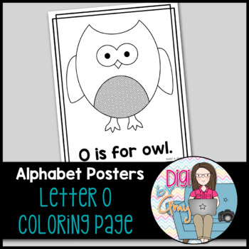 Animal Alphabet Coloring Pages: O is for Owl