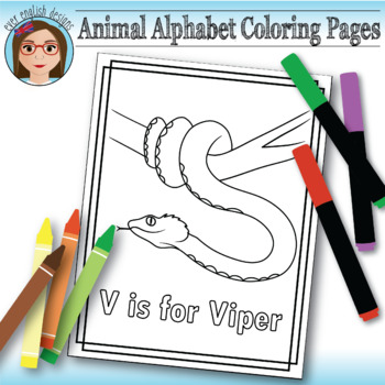 Animal Alphabet Coloring Pages: V is for Viper