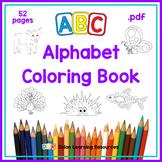 ABC Alphabet Coloring Book