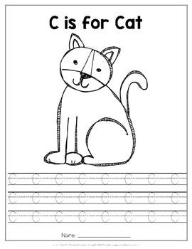 Handwriting Packet Uppercase {Animal Alphabet}