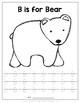 Animal Alphabet Coloring & Uppercase Handwriting Packet