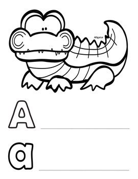 Alphabet Coloring and Writing