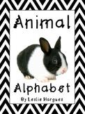 Animal Alphabet Cursive Version