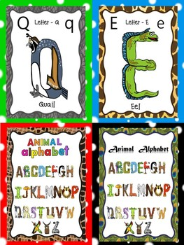 Animal Alphabet - Flash Cards