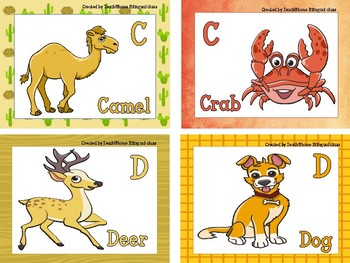 Animal Alphabet,Flash cards,Posters