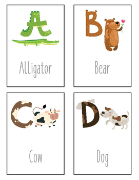 Animal Alphabet Flashcards