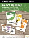 Animal Alphabet Flashcards / Set of 26 / Printable
