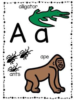 Animal Alphabet Fun ...  Posters/Flashcards/Centers/Printables  (Boardmaker)